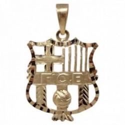 Colgante oro 18k escudo 26mm. Fútbol Club Barcelona calado cerco tallado