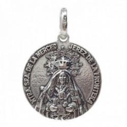 Medalla plata Ley 925m Virgen de la Merced de Jerez 22mm. maciza unisex