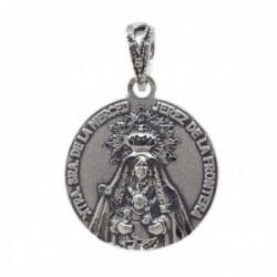 Medalla plata Ley 925m Virgen de la Merced de Jerez 18mm. maciza unisex