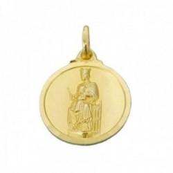 Medalla oro 18k Virgen de la Merced 18mm. bisel liso unisex