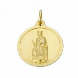 Medalla oro 18k Virgen de la Merced 20mm. bisel liso unisex