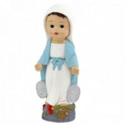 Figura Virgen Milagrosa infantil imagen 20cm. resina peana decoración
