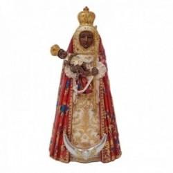 Figura Virgen de la Candelaria imagen 19cm. Patrona Islas Canarias adorno resina decoración
