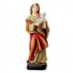 Figura Santa Cecilia imagen 20cm. Patrona de los músicos adorno resina peana decoración