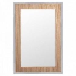 Espejo pared marco madera 50x34cm. filo plateado