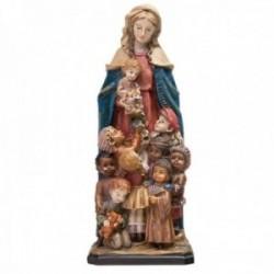 Figura Virgen de los Desamparados imagen 26cm. niños adorno resina decoración
