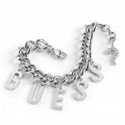 Pulsera Guess Los Ángeles UBB20005-S acero inoxidable rodiado letras logo interrogación cristales