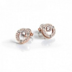Pendientes Guess All Around You UBE20136 acero inoxidable chapados oro rosa aro cristales Swarovski