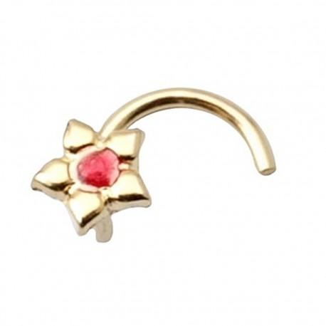 Piercing oro 18k flor esmaltada [6014]
