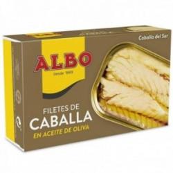 Albo Filetes De Caballa Del Sur En Aceite De Oliva - 120 G Neto