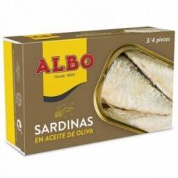 Albo Sardinas En Aceite De Oliva - 120 G Neto - Pack De 6 Unidades