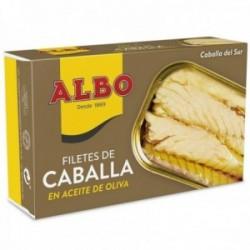 Albo Filetes De Caballa Del Sur En Aceite De Oliva - 120 G Neto - Pack De 6 Unidades