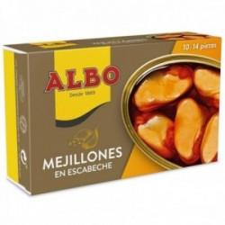 Albo Mejillones En Escabeche 10/14 Piezas - 115 G Neto - Pack De 6 Unidades