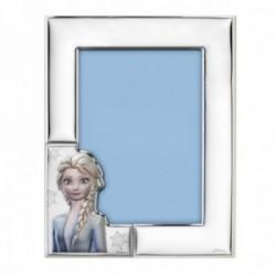 Marco portafotos plata Ley 925m bilaminada Disney foto 13x18cm. Frozen Elsa plateado efecto espejo