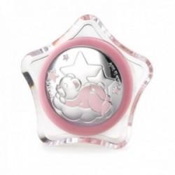 Luz nocturna infantil enchufe pared oso durmiendo nube rosa estrella transparente