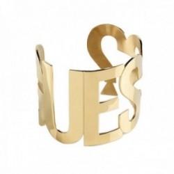 Brazalete abierto Guess Los Ángeles UBB20000-S acero inoxidable chapado oro letras interrogación