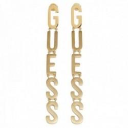 Pendientes Guess Los ángeles UBE20005 acero inoxidable 10cm. chapado oro letras logo