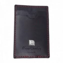 Billetero Pierre Cardin 11cm. piel negro gancho metálico dos bolsillos