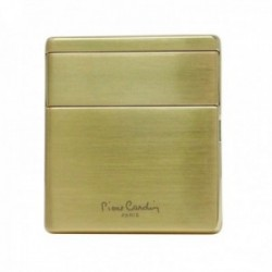 Mechero inducción Pierre Cardin metálico dorado liso