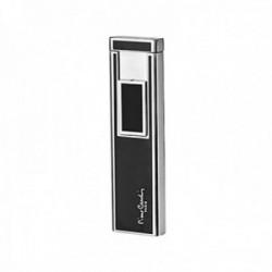 Mechero inducción Pierre Cardin metálico negro plateado liso