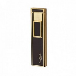 Mechero inducción Pierre Cardin metálico negro dorado liso