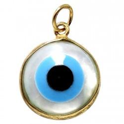 Colgante Gold Filled 14k/20 ojo turco nácar [6050]