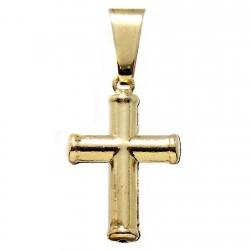 Colgante Gold Filled 14k/20 cruz crucifijo redonda hueca lisa [6051]