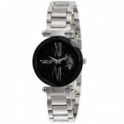 Reloj U.S. Polo Assn. mujer USP5704ST Jody Collection plateado acero inoxidable