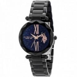Reloj U.S. Polo Assn. mujer USP5708BK Jody Collection negro acero inoxidable