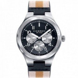 Reloj Viceroy hombre 42337-54 Beat multifunción acero inoxidable correa combinada