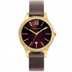 Reloj Viceroy mujer 471100-43 Chic marrón malla milanesa acero inoxidable