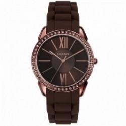 Reloj Viceroy mujer 46852-43 Femme marrón silicona acero inoxidable