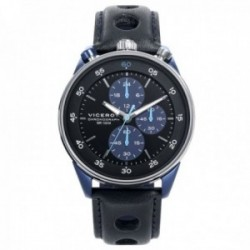 Reloj Viceroy hombre 46763-34 Heat cuero negro acero inoxidable