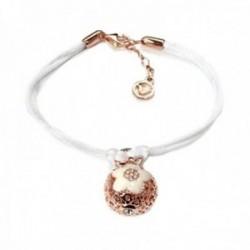 Pulsera Viceroy 1094P100-20 Eline plata Ley 925m chapado rosa bola calada flor cordón blanco