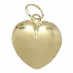 Colgante oro 18k corazón 12x13 liso hueco [6080]
