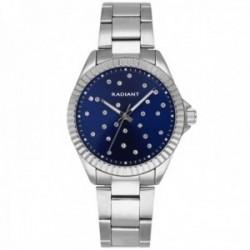 Reloj Radiant mujer RA547202 Constellation esfera azul piedras blancas correa acero inoxidable