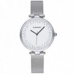 Reloj Radiant mujer RA543201 The Circle esfera piedras blancas malla milanesa