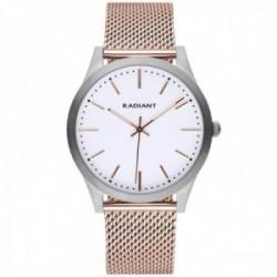Reloj Radiant hombre RA553605 Light&Shadows correa malla milanesa rosa acero inoxidable
