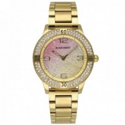 Reloj Radiant mujer RA564202 Frozen dorado esfera brillo piedras blancas