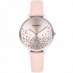 Reloj Radiant mujer RA525606 Ella esfera piedras colores correa rosa