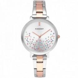 Reloj Radiant mujer RA525202 Ella esfera piedras colores correa bicolor acero inoxidable