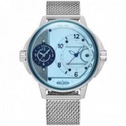 Reloj Welder Moody hombre WRK2004 The Bold dual-time acero inoxidable malla milanesa
