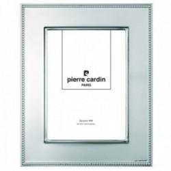 Marco portafotos Pierre Cardin plata Ley 925m bilaminada foto 10x15cm. efecto espejo detalle borde