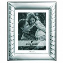 Marco portafotos Pierre Cardin plata Ley 925m bilaminada foto 9x13cm. efecto espejo detalle líneas