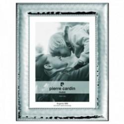 Marco portafotos Pierre Cardin plata Ley 925m bilaminada foto 13x18cm. efecto espejo detalle bordes