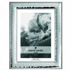 Marco portafotos Pierre Cardin plata Ley 925m bilaminada foto 9x13cm. efecto espejo detalle bordes