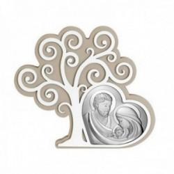 Imagen icono 18.5cm. plata Ley 925m bilaminada Sagrada Familia Árbol de la vida madera dos colores