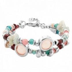 Pulsera Unode50 Energia++ PUL1847MCLMTL0M coleccion My Luck metal chapado plata piedras cristales