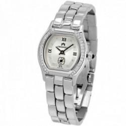 Reloj oro blanco 18k Cromwell mujer brillo bisel e indicadores diamantes brillantes esfera blanca
