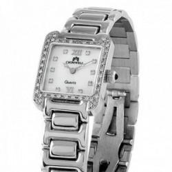 Reloj oro blanco 18k Cromwell mujer brillo esfera nácar bisel e indicadores diamantes brillantes
